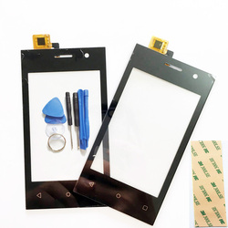 Black Color For Highscreen Pure J Touch Screen Digitizer Sensor Glass Touch Panel +TOOL