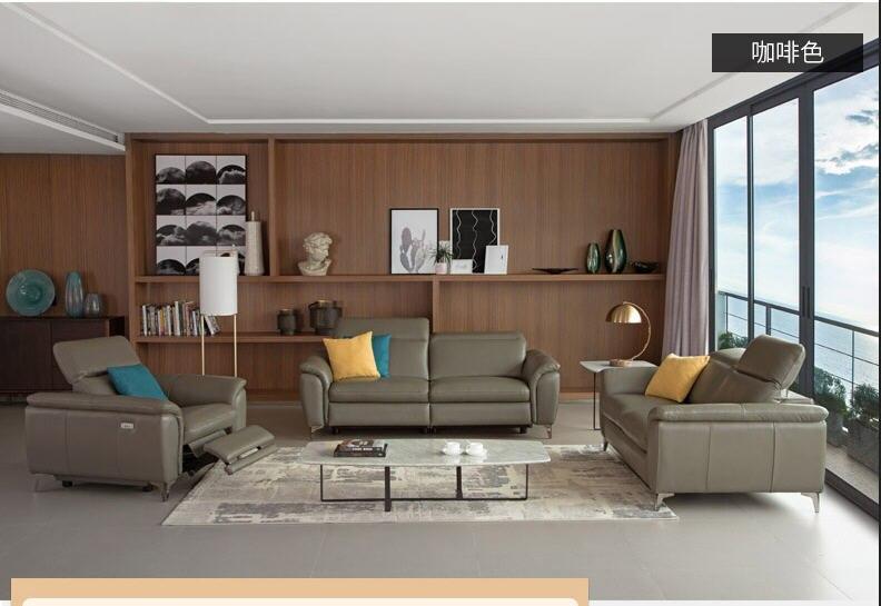 Salon ZESTAW SOF rogu sofa krzesło elektryczne kanapie prawdziwej skóry kanapy segmentowe 123 muebles de sala ruchome para casa