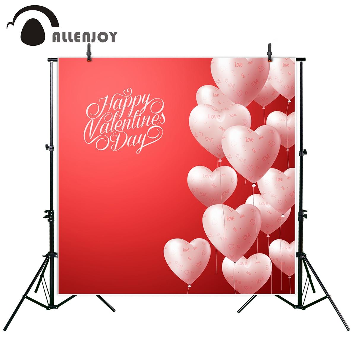 Allenjoy Vinyl Foto Mooie Achtergrond 3d Realistische Hart Ballonnen Vliegen In Rode Valentines Dag Achtergrond Photocall Foto Gedrukt Heilzaam Voor Het Sperma