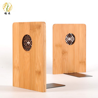 A pair new Anti skid Bookends Book Ends Shelf Holder Nature Wood Book Stand Chinese Style
