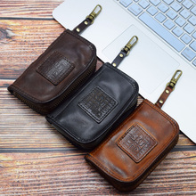 2020 Genuine Cow Leather Key Wallet Men Women Vintage Handma