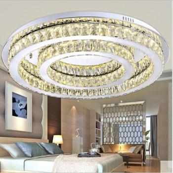 LED europejski twórcza atmosfera koło K9 kryształowe lampy sufitowe salon sypialnia absorbują światło kopuły lampy sufitowe