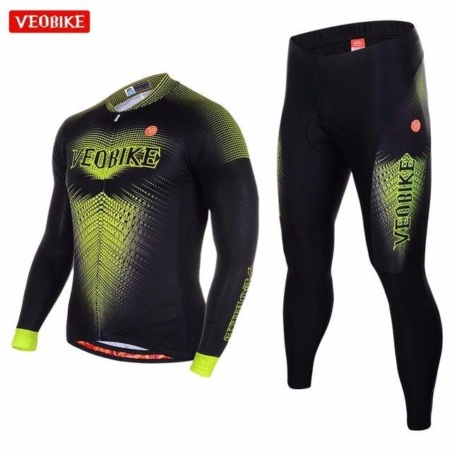 Veobike 2018 profesional Ciclismo Jersey manga larga Camisas secado ...