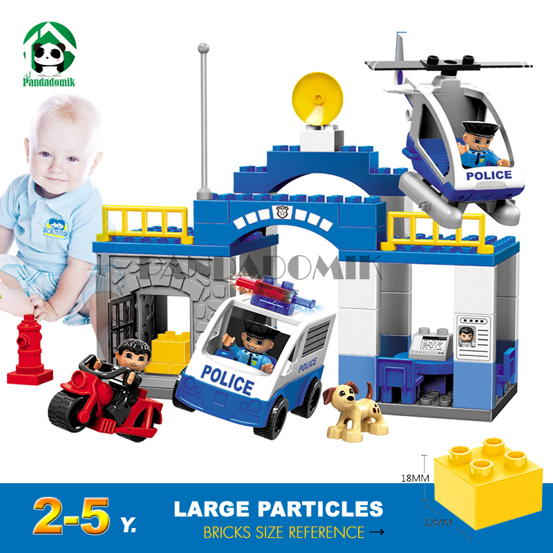 Super Police Building Blocks Bricks Kit Educational Toys Learning Education Baby 2-5 years Constructor set Toy for Children kids 8pcs diferent dinosaur world plastics kid baby toy building blocks brick educational toys for children kids set