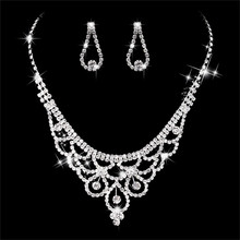 Canner Austrian Crystal Wedding Jewelry Sets Luxury Cubic Zirconia Earrings Necklaces Bridal Set