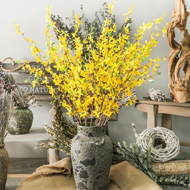Hot Sale 1pcs Autumn Decoration Vivid Winter Jasmine Artificial
