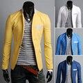 Envío gratis! hombres con estilo Slim Fit Causal traje de negocios Formal Blazer hombres abrigo chaqueta