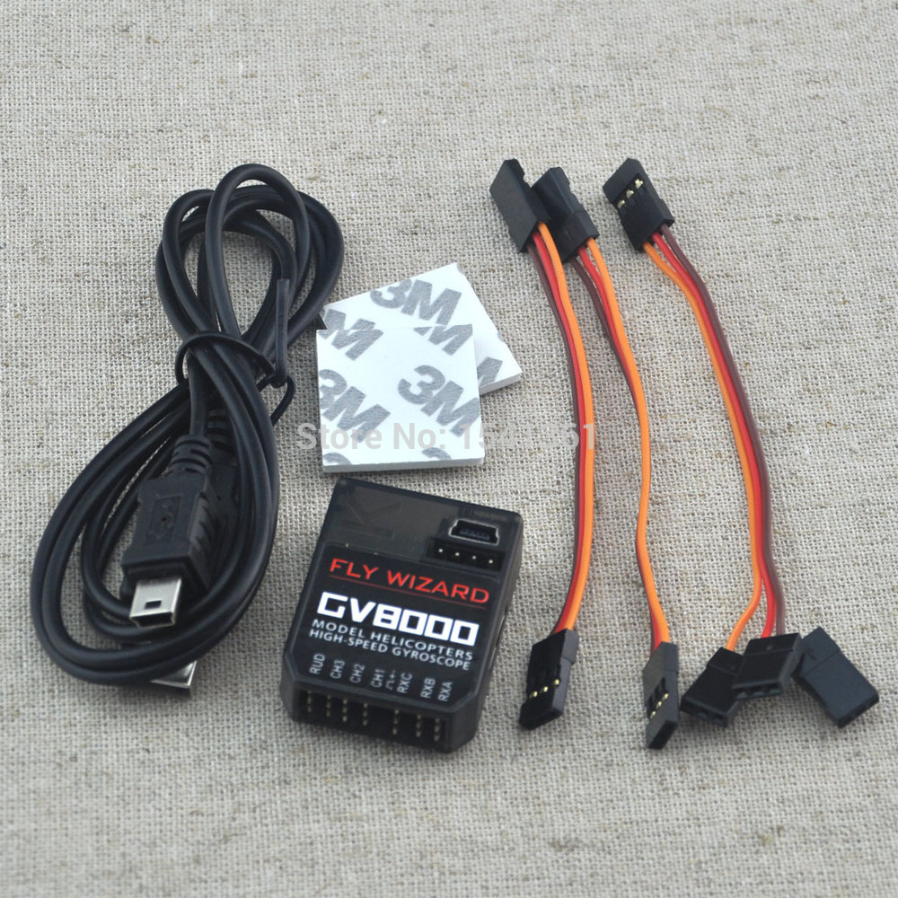 High-Speed Mini GV8000 3 Axis Gyro Flybarless System For ALIGN T-REX etc. 450 550 600 700 RC Helicopter цена и фото