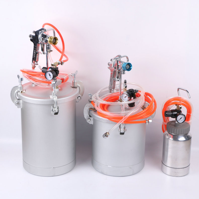 10L paint tank with high pressure spray gun paint tank with regulator and ring pull safety