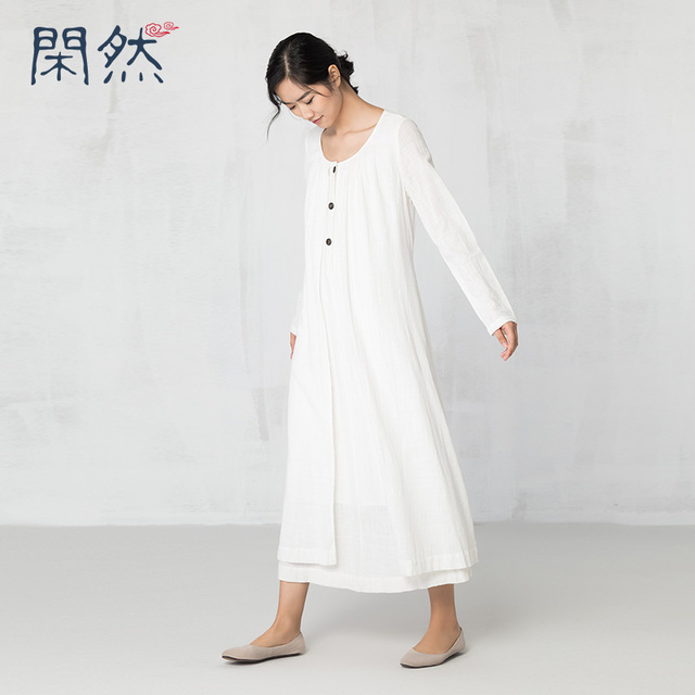 ec49c801251 XianRan 2017 Women Shirt Dress Loose Casual Long Sleeve cotton Plus Size  Dresses new arrival long sleeves hot sale soft