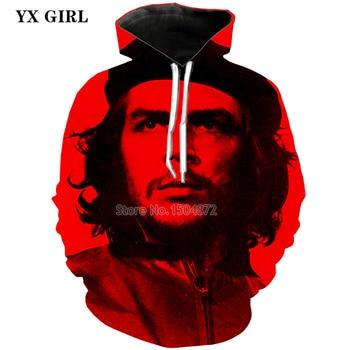 NEW Fashion Male 3d Printed Che Guevara Hoodie For Men Autumn Hooded Pocket Sweatshirt High Quality Pullover Sweatshirts TOPS new men s dragon ball 3d printed hooded sweatshirt with kangaroo pocket hob aa03