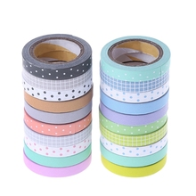 5Pcs/set Kawaii Dot Masking Tape Sticker DIY Self Adhesive Washi Craft Decor