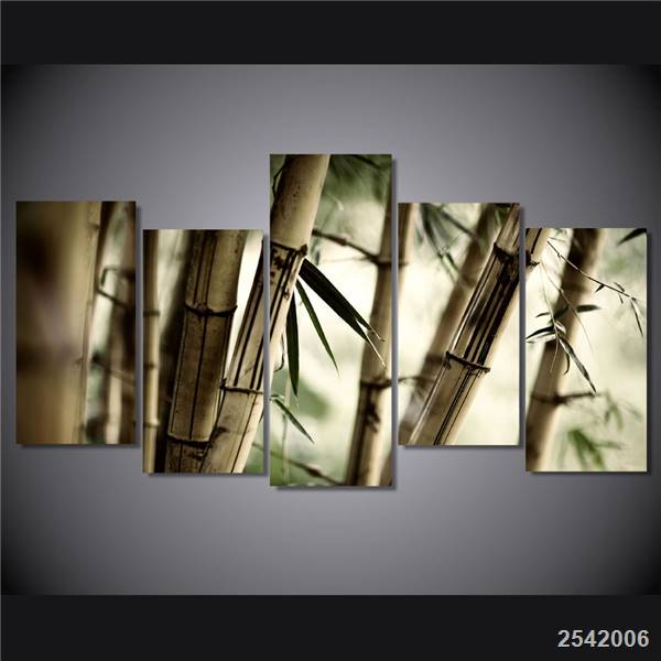 Hd Printed Bamboo Landscape Painting On Canvas Room Decoration Print Poster Picture Canvas Free Shipping/Ny-4971 Christmas gift