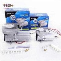 Permanent magnet type DC membrane air compressor for aquarium add oxygen pump fish tank air pump BOYU ACQ 903 free shipping