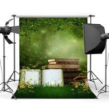 Photographie toile de fond monde de rêve conte de fées Jungle forêt floraison fleurs herbe champ Bokeh fond magique