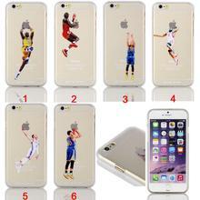 Basketball Star Jordan Kobe Bryant Dunk Transparent Hard Case For iPhone 4/4s/5/5s/5c/6/6s/6plus/6s plus