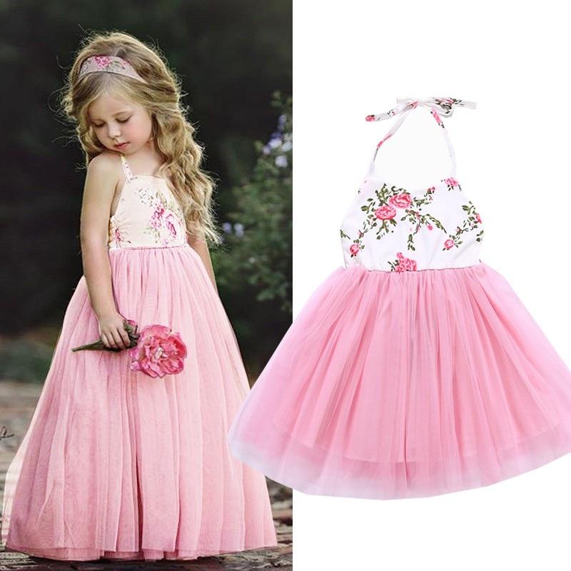 d1ff1b96d3e 2019 новый бренд Детское платье для маленьких девочек Модная одежда для  детей