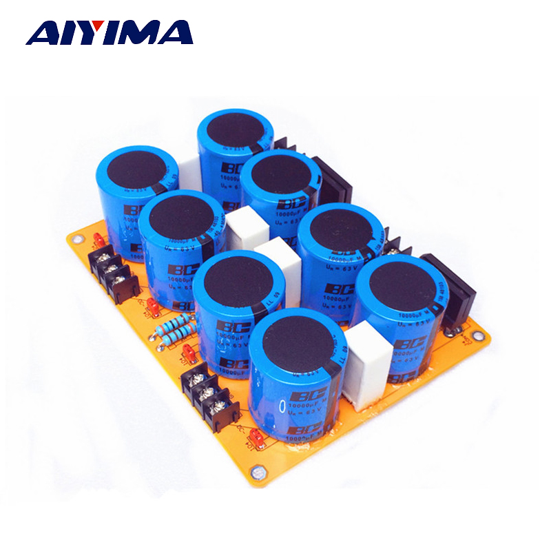 все цены на Aiyima Amplifier power Rectifier filter board with imported original origin BC with Philips capacitor онлайн