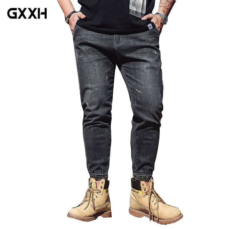 2018 New Large Size Mid-Waist Mens Jeans Stretch Feet Jeans Feet Pants High Quality Mens Trousers Size S-3XL 4XL 5XL 6XL