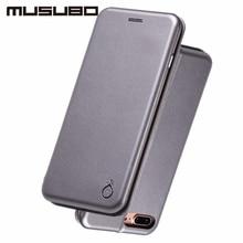 Musubo марка кожаный чехол case для iphone 7 флип чехлы для iphone 7 plus стенд cover смарт вид из окна предложение протектор экрана