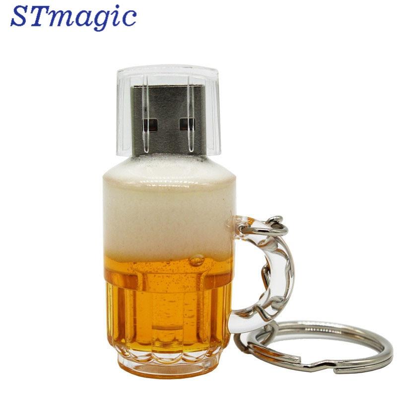 STmagic real capacity Beer Cup usb 2.0 4G 8G 16G Pen Drive 32G Memory creative usb flash drive gift usb stick