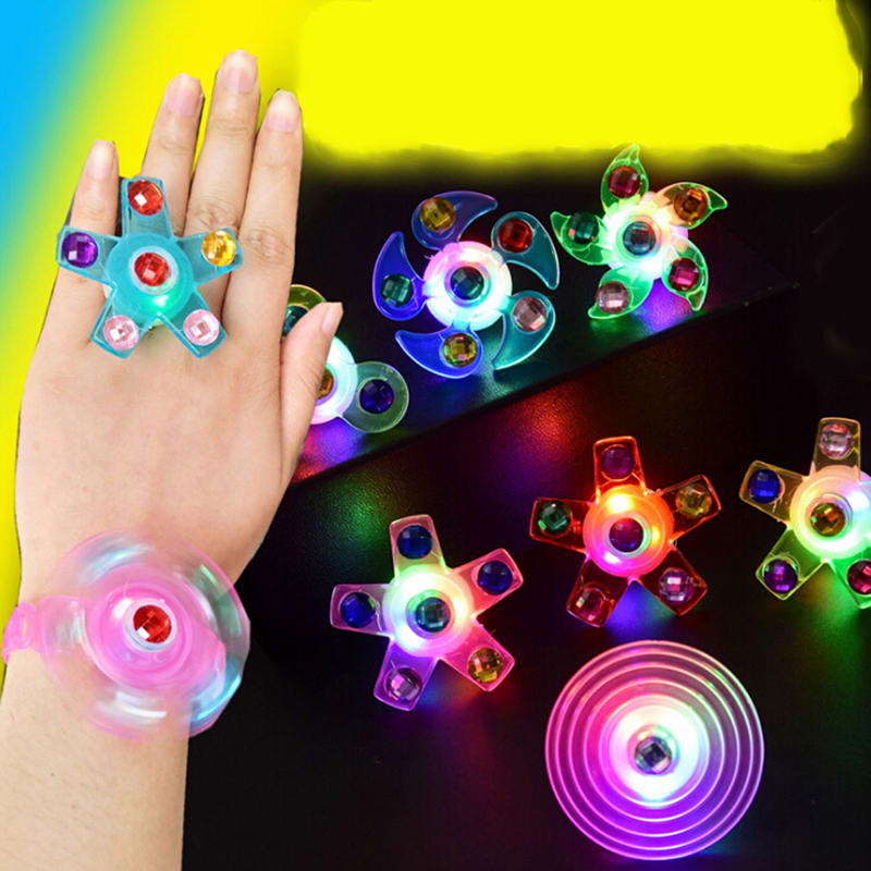 1Pc Fidget Spinner Lighter Flow Rings Funny Led Light Up Tiny Toy Fidget Spinner Stress Relief Gift Gyroscop Toy Spiner