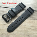 NEW 24 26mm black strap waterproof silicone rubber watchband strap for PAM With Logo,Free Shiping