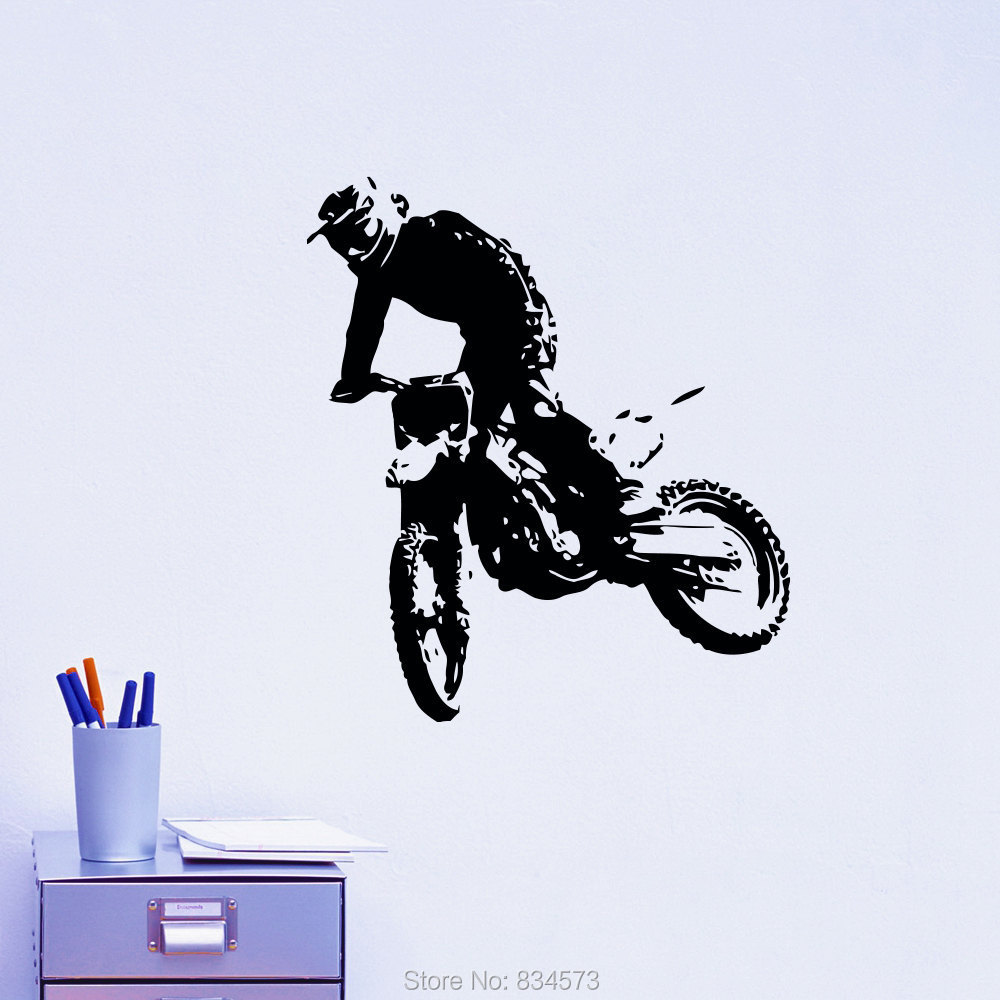 Online buy wholesale remove bike decals from china remove for Dirt bike wall mural