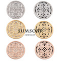 Sumsoar Jewelry Henna Dream Flower Disc Coin for Large Coin Holder Frame Pendant 10pcs/lot