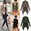 2014 New Women's Asymmetric Cape Poncho Top Cardigan Long Sleeve Coat Blouse Sweater Z 41