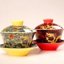 Китайская ручная роспись сустав Буле традиционная гайвань чайная игра покрытая драконом Портретные чаши кунг-фу чайные чаши