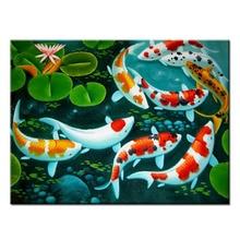 5D Diy Diamond Painting Cross Stitch Animal Embroidery Koi fish Full Mosaic Square Round Rhinestone Handicrafts Decor