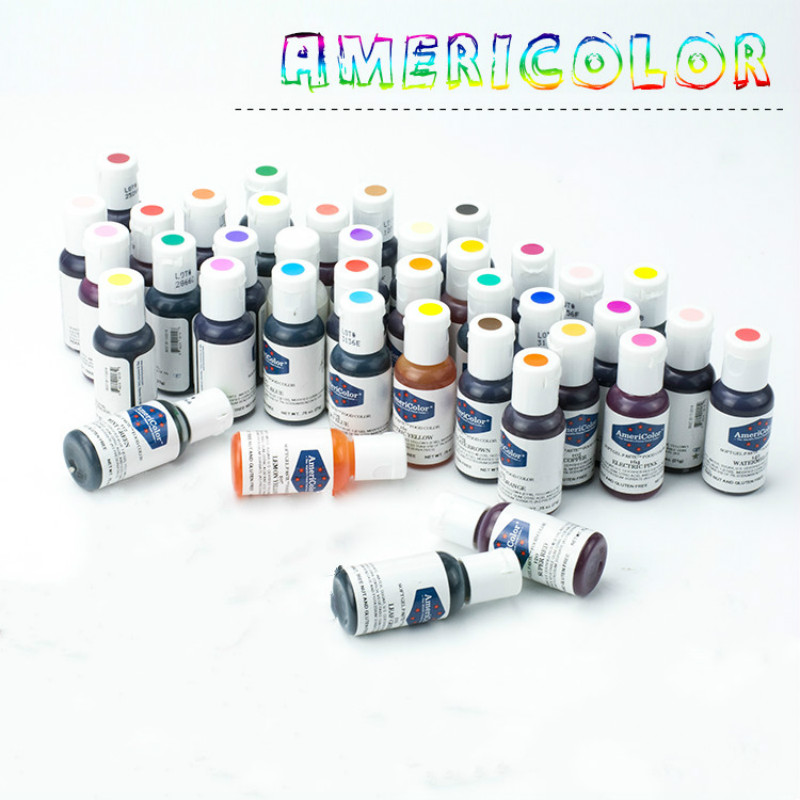 Kostenloser Versand Amerika Americolor Natürliche Essbare Pigment 41 farben Farbe Creme Fondant Kuchen Makronen Creme Pigment 1 PCS 21g