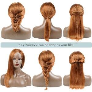 Image 4 - Перуанские блонд человеческие волосы парики прямые 1B 30 цветные Омбре кружева фронта человеческих волос парики для черных женщин медовый блонд парик Nonremy