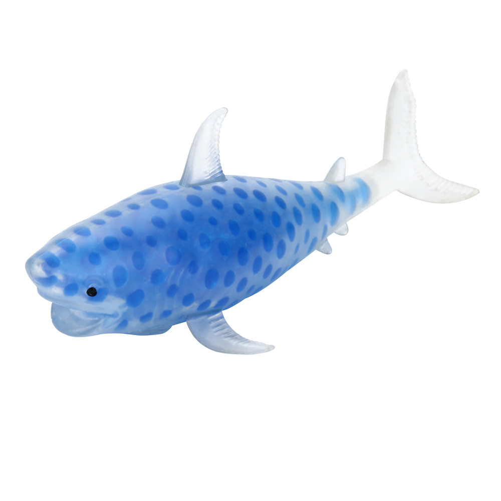 Pongy Shark Bead Stress Ball Toy Squeezable Stress Toy Stress Relief Ball Squishes Slow Toy Rising Stationery Items Kid Toys A1