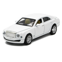 For Bentley Alloy Car Model Light Music Pull Back Die Cast 3 Open Doors Design Auto Speelgoed Luxury Sedan Car Toy Vehicles 15cm