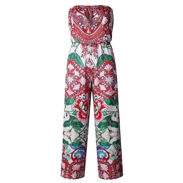 329b8c8b mono playa estampado floral monos largos mujer pantalon largo ropa de verano  mujeres 2019 mono peto mujer ofertas calientes con envio gratis ...