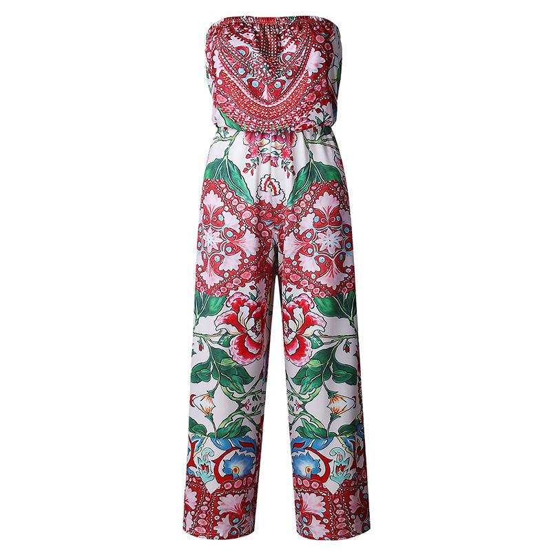 plus size rompers womens jumpsuit sexy beach off shoulder overall for women wide leg casual pants summer one piece jumpsuits 37L