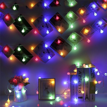 50M LED Ball Bulb Garland  Fairy Christmas Lights Outdoor waterproof Wedding Light Wall Lamp Decor Holiday Party Garden Battery led string lights 100m 800leds holiday light outdoor decor lamp for party wedding garden christmas fairy