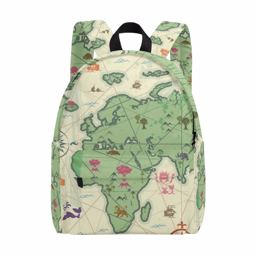 Unicreate Russia Map World Map Women Bags Book Bag Canvas Men Backpack Travel Daypack Girls' Zipper School Children Learning Bag learning carpets us map carpet lc 201