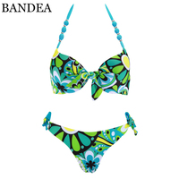 BANDEA Bikini Set New Sexy Swimsuit Women Push Up Bikini Floral Print Swimwear Halter Top Swimming