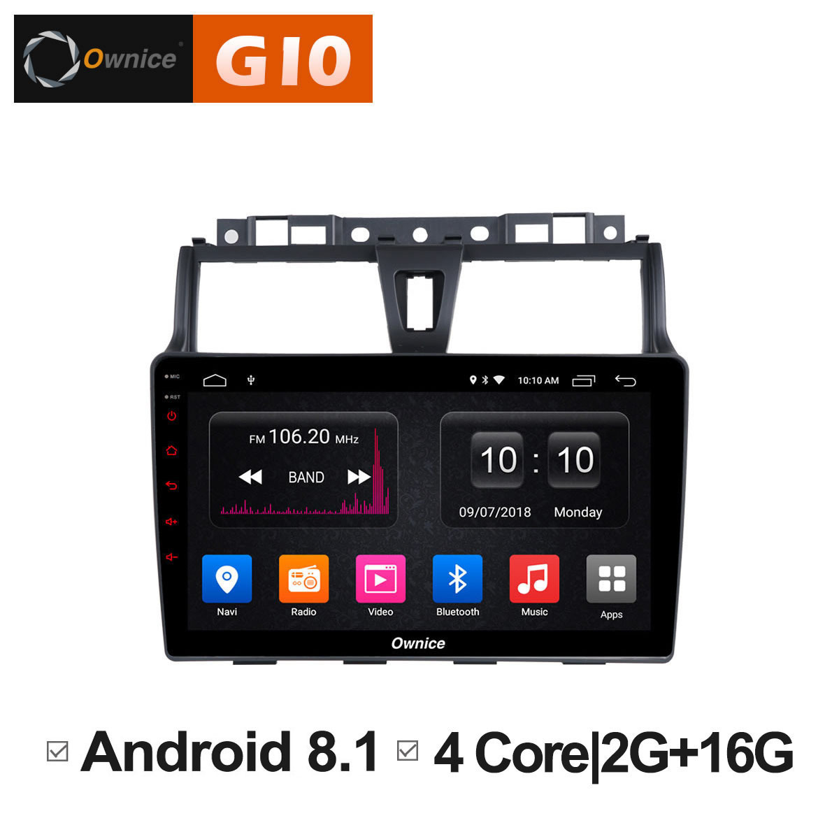 Android 8 1 Car radio Stereo audio dvd Intelligent Multimedia player for Geely EC7 2014 2015