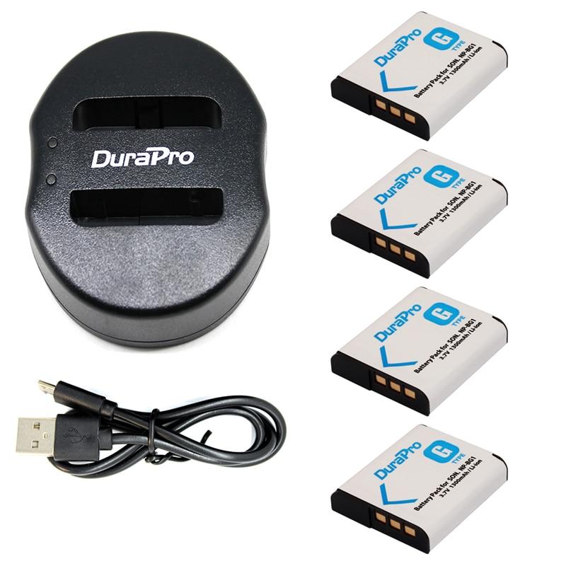 4pc NP BG1 NP BG1 BG1 Rechargeable Li ion Battery Portable Dual USB Charger for SONY