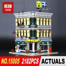 LEPIN 15005 2182Pcs City Grand Emporium Model Building Blocks Kits Brick Toy Compatible Educational 10211 Children DIY Gift