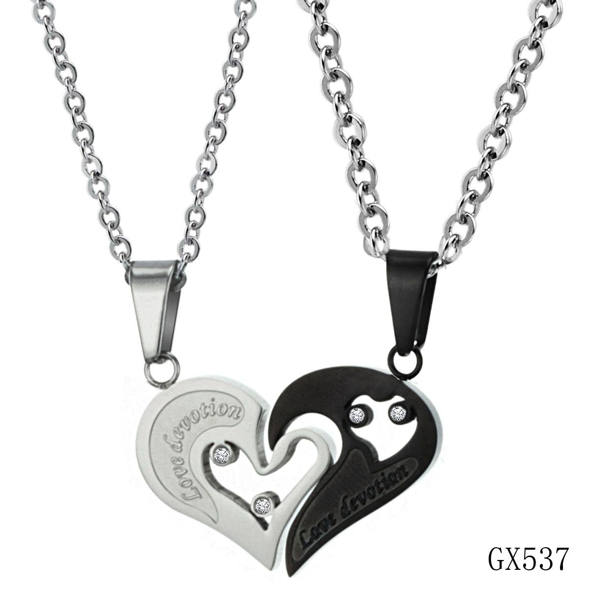 fc0b072e61 OPK Sweet Love Heart Necklace couple puzzle pendants for lovers Cubic  Zirconia Stainless Steel 537-in Chain Necklaces from Jewelry & Accessories  on ...