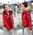 New 2016 Winter Women's Parka Short Luxury White Duck Down Jacket Thicken Female Black Red Coat Outerwear Clothes High Quality