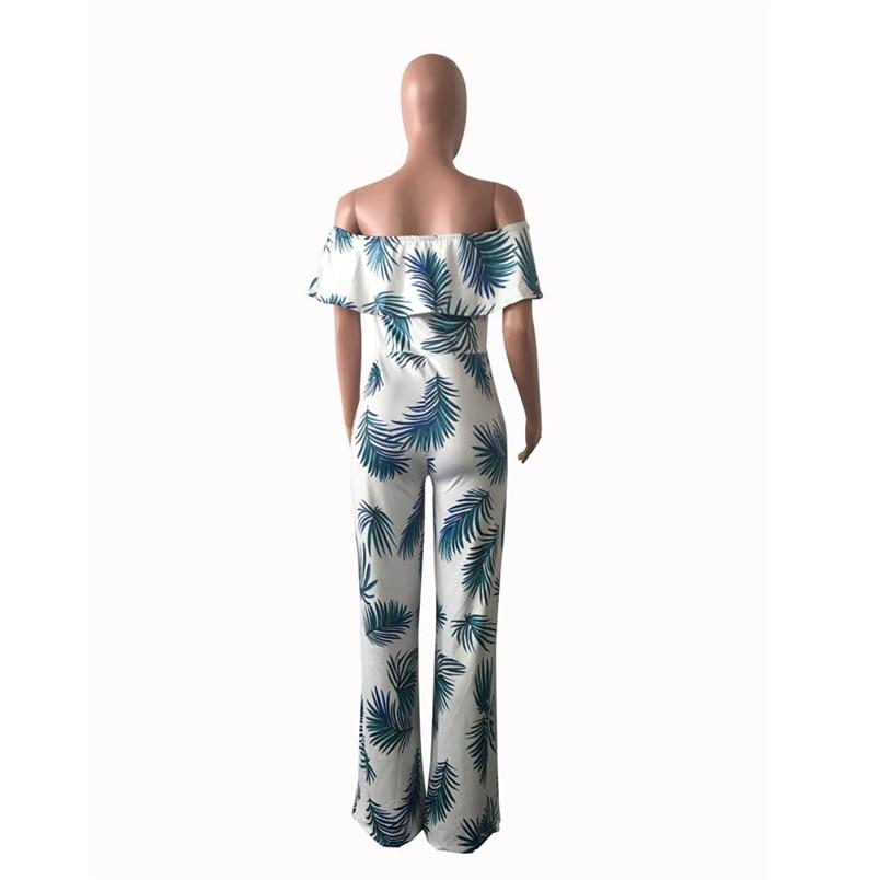 Women Summer Jumpsuit Fashion Short Sleeve Off One Shoulder Floral Print Playsuit Long Pants Casual Rompers Jumpsuit F#L20 (15)