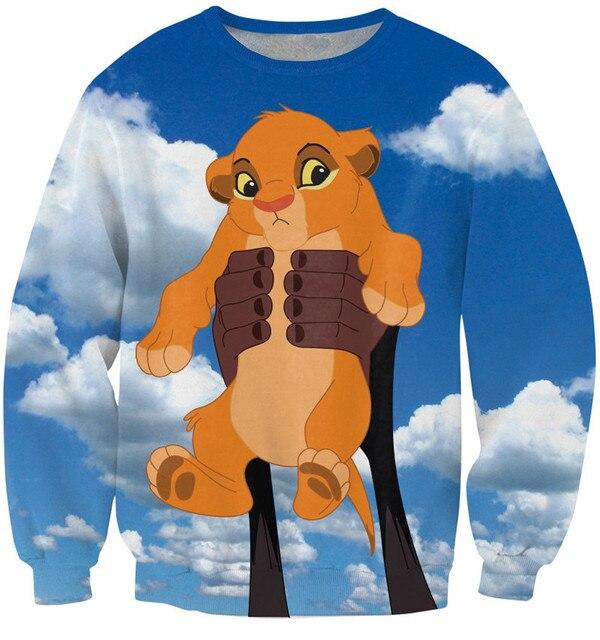 5e3fc5282dda8 Sweat-shirt 3D de dessin animé bébé Simba le roi Lion vêtements de mode d
