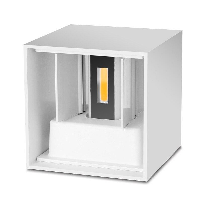 Işıklar ve Aydınlatma'ten Dış Mekan Duvar Lambaları'de 2019 Armatür Exterieur Su Geçirmez Küp Cob led ışık Duvar Lambası Ev aydınlatma dekorasyon Açık Alüminyum 7 w Ac Için Lemonbest