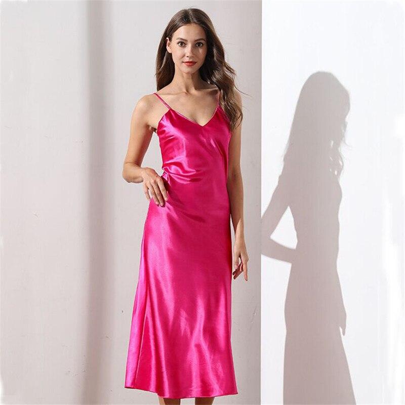 Lace Nightgowns V-neck Sleepdress White Long Nightwear Women Spaghetti Strap Nightdress Sleepwears For Female Night Dress